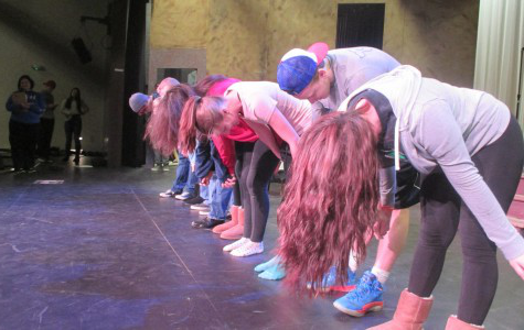 Encore! Seniors practice their bows for Rock of Ages. Most of the seniors have been in the program for years.