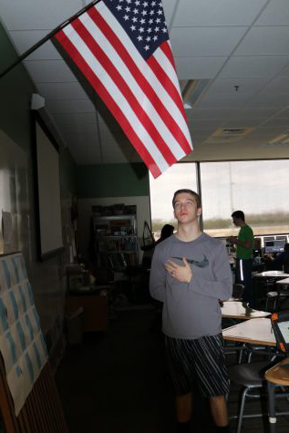 "There is a going divide between people and what they think patriotism actually means. ""If you live in this country, then you should stand for the flag,"" said Case Jaukkuri, a senior."