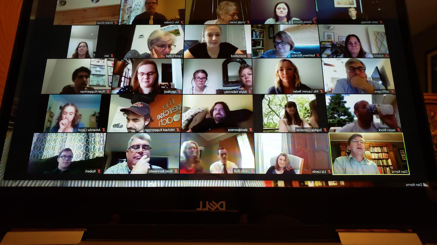 Illinois Journalism Education Association hosts a Zoom meeting to honor new members to the All-State Journalism Team. Meridian