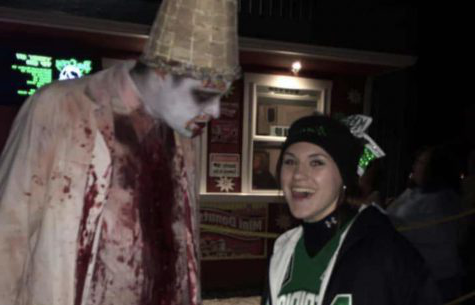 Zoey Hayes at the Boo Crew haunted house in Mechanicsburg, IL. Hayes loves to go to haunted houses with friends and family.